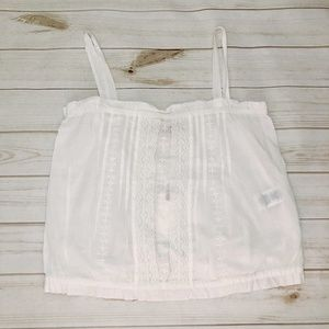 CURRENT/ELLIOTT The Lace Tank in White